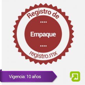 Registro de Empaque (marca tridimensional)